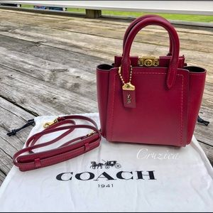 S⭕️LD‼️New Coach Troupe 16 Tote in Deep Red